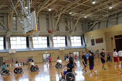 熊本県立等第二高学校 講演会及び車いすバスケットボール体験の画像