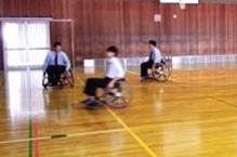 車いすバスケットボール体験教室の画像