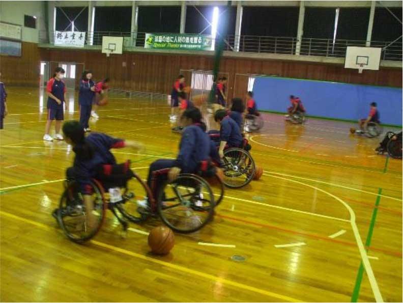 熊本県立南稜高等学校 車いすバスケットボール体験